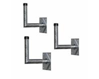 Wandhalter-STAHL je 3 Stück 30x28, 40x28, 50x28