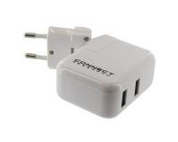 CEVA001W weiß, USB-Ladegerät 2 Ausgänge USB 5V - 3,1 A