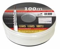 KHC134-100RL, 5-fach geschirmt, Klasse A+, 135 dB,  Das neue MASTERPIECE., 100 m,  weiß,  auf Pappspule mit Infoaufdruck
