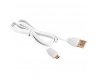 MBFL-10 weiß, USB - Micro-USB-Flachkabel, 1,0m