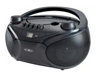 RCR4655 schwarz, Boombox mit CD, MP3, Kassette, USB, SD, AUX-In