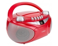 RCR4655 rot, Boombox mit CD, MP3, Kassette, USB, SD, AUX-In