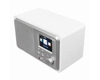 XORO HMT 300 weiß, WLAN-Internet Radio mit Bluetooth, Wecker, Wetter Station, USB, UPnP, Musik Streaming, 6,1 cm Farb-TFT-Displ.