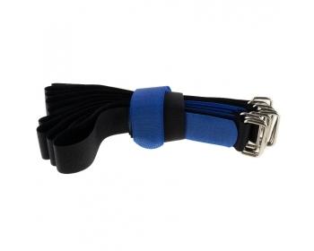 Klettbinder 400x30, schwarz/blau, 10Stk.