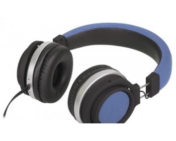 M2, FUNKY blau, On-Ear-Kopfhörer mit Mikrofon und Lautstärkeregler
