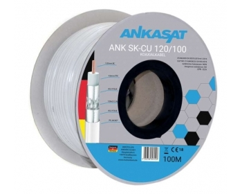 ANK SK-CU 120/100, Koaxial-Kabel, bis zu 120 dB, 100m, Vollkupfer