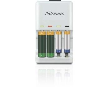 ELIXIA, Ladegerät für Wegwerfbatterien (Alkaline) und Akkus NiCD/ NiMH