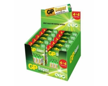 GP Thekendisplay Super Alkaline 4+4 Mix, 5xAA + 5xAAA (je BL8)