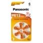 PANASONIC Zinc-Air PR13 (PR48) BL6 (Hearing Aid)