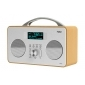 XORO DAB 240, DAB/DAB+/FM Radioempfang, Weckfunktion, Metall-Teleskopantenne, im klassischem Holzgehäuse
