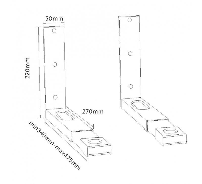 hw1l halterung f r mikrowellenger te belastung bis 35 kg. Black Bedroom Furniture Sets. Home Design Ideas