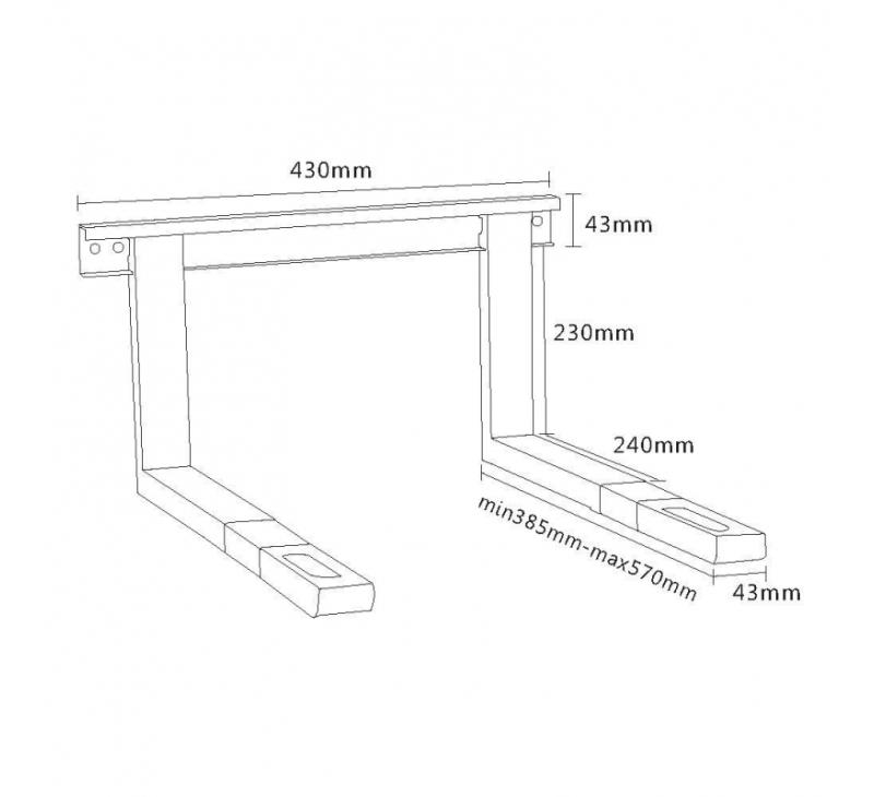 hw2l halterung f r mikrowellenger te belastung bis 35 kg. Black Bedroom Furniture Sets. Home Design Ideas
