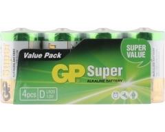 GP LR20, Super Alkaline, D, Mono, Schlauch (4)