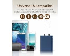 GP B10A Powerbank 10000mAh, blau, 2 USB-Anschlüsse 2,1A
