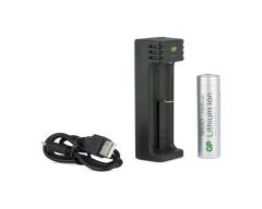 GP LI-ION Ladegerät, USB-Modell, GP L111 1 x Li-Ion+ 18650 2600 mAh