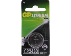 GP CR2430, Lithium Knopfzelle, CR2430, DL2430, 2430, 3,0V/230mAh, 1er Blister