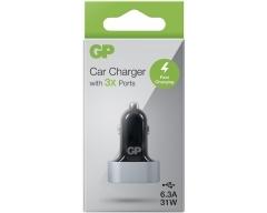 GP CC61, USB KFZ-Ladegerät mit 3 USB-Anschlüssen 6,3 A, Typ-A