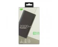 GP B20A Powerbank 20000mAh, grau, 2 USB-Anschlüsse 2,1A