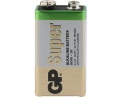 GP 6LR61, 9-Volt Super Alkaline, 9V, E-Block, 1604, Bulk/ Folie