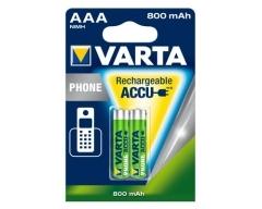 VARTA T398 800mAh Akku DECT/ Phone, AAA Micro 800mAh BL2