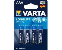 VARTA 4903, Batterie Alkaline, Micro, AAA, 1.5 V Longlife Power, Blister (4)