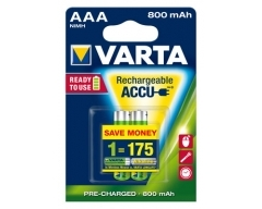 VARTA 56703 Longlife Accu Ready2Use AAA 800mAh Blister(2)