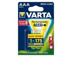 VARTA 56703 Longlife Accu Ready2Use AAA 800mAh Blister(2)