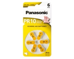 PANASONIC Zinc-Air PR10 (PR230/PR536) BL6 (Hearing Aid)
