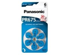 PANASONIC Zinc-Air PR675 (PR44) BL6 (Hearing Aid)