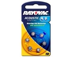 Rayovac 4600 Hörgerätebatterie HA10 (PR70)