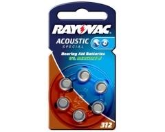 Rayovac 4607 Hörgerätebatterie HA312 (PR41)