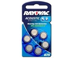 Rayovac 4600 Hörgerätebatterie HA675 (PR44)