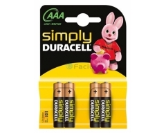 DURACELL Simply MN2400 AAA, LR03, Micro, Blister (4)