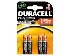DURACELL Plus MN2400 AAA, LR03, Micro, Blister (4)