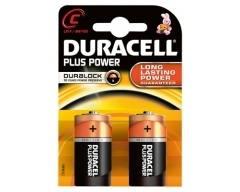 DURACELL Plus MN1400 LR14,Baby, C, Blister(2)