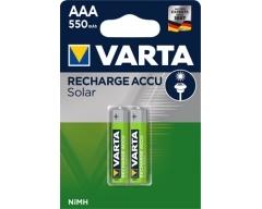 Varta Solar Micro Akku Ni-MH 1,2V / 550mAh 2er Blister V56733BL2