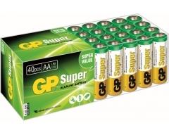 GP LR06, 40er Box, Super Alkaline, AA, Mignon