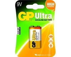 GP 6LR61, 9-Volt Ultra Alkaline, 9V, E-Block, 1604, Blister