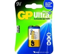 GP 6LR61, 9-Volt Ultra Plus Alkaline, 9V, E-Block, 1604, Blister