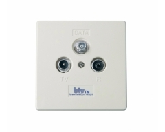 btv 1165 DATA-IM , 11 dB Multimedia-Breitbanddurchgangsdose 1 GHz mit separatem DATA-Anschluss