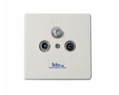 btv 1265 DATA-IM, 12 dB Multimedia-Breitbanddurchgangsdose 1 GHz mit separatem DATA-Anschluss
