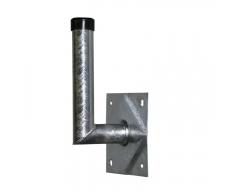 Stahl-Wandhalter, 10x28cm, Rohr Ø 48mm, Platte 20x20cm