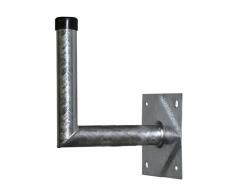 24030, Stahl- Wandhalter, 30x28cm, Rohr Ø 48mm, Platte 20x20cm