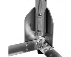 Alu- Balkonständer / 40x40cm, Rohr 50mm / Var.I