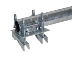 ANKARO® ANK SM 50/1000, Stahl Mastverlängerung 100cm / Ø50mm / gal. verzinkt