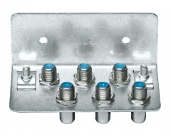 Erd.-block 6-fach HQ , Erdungsblock für 6 Koaxialkabel, F-Konnektor, Rückflussdämpfg. >30 dB