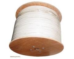 AC100 500m/Weiß, Cu-Koaxialkabel >120 dB, Klasse A+, Dreifachgeschirmt, Kupfer-Innenleiter