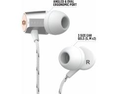"EM-JE093-SV, MARLEY ""Uplift 2"" silber, In-Ear Kopfhörer mit Mikrofon, geräuschisolierend"