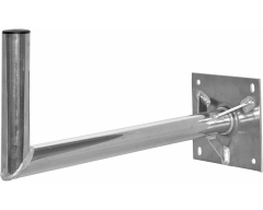 Alu-Wandhalter / 70x25cm / Platte mit Verstrebung