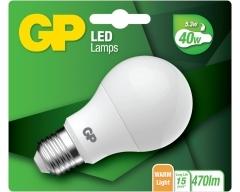 GP LED Lampe, E27, Classic 5,3W, nicht dimmbar, 077930